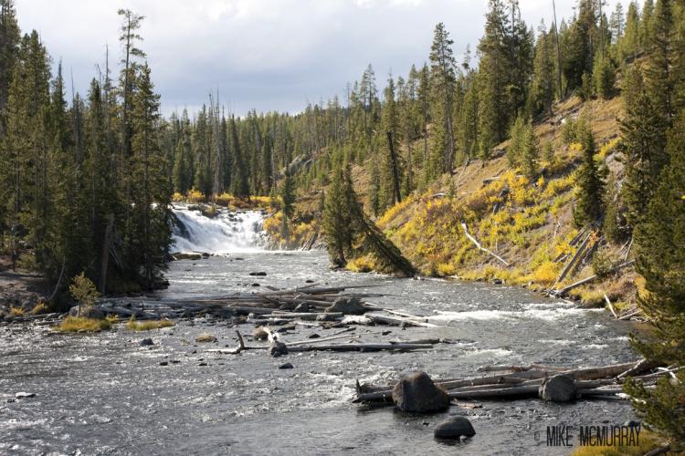 tetons fall. lewis falls river